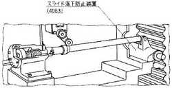 付図20 スライド落下防止装置の例